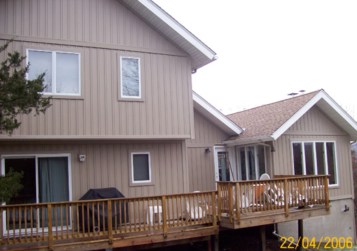 Batton-board siding