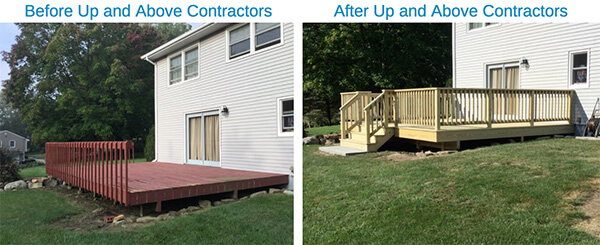 before and after porches and decks