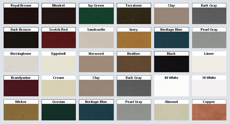 Northern Nj Gutter Color Chart Andover Nj Up And Above