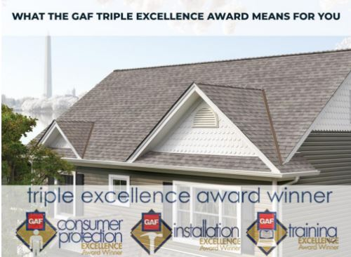 GAF Triple Excellence Award Winner For the 3rd Consecutive Year